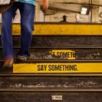 NYC straatfotografie, Say something